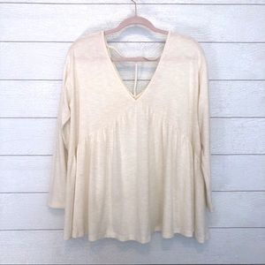 Altar'd State Sparkle Flowy T-Back Long Sleeve Top
